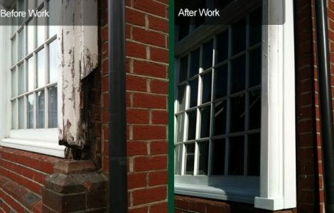 before and after casement sash window