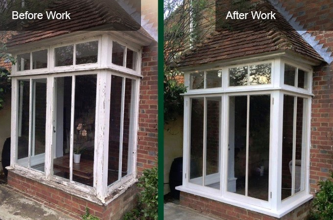 before and after box sash window